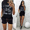 """Бархатные женские мини-шорты """"Kent"""" с карманами и меховыми помпонами (4 цвета), фото 4"""