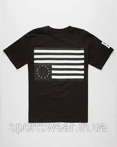 Мужская Футболка Black scale rebel flag