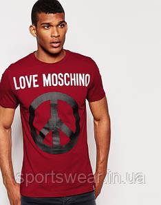 "Мужская  красная  Футболка  Love Moschino  Лав Машино """" В стиле Love Moschino """""