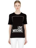 Футболка женская с принтом LOVE MOSCHINO