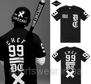 """Мужская Футболка черная CHEF 99 DOPE """""""" В стиле DOPE """""""""""