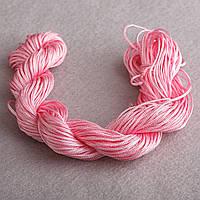 Нить шнур для шамбалы Розовый моток 13 м  Ø 1мм