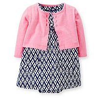 Платье с розовым кардиганом Carters, Размер 9м, Размер 9м