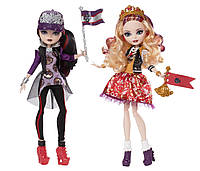 "Ever After High Набор кукол ""Школьный дух"" (Эппл Уайт и Рэйвен Квин) School Spirit Apple White and Raven Queen Doll"