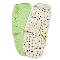 Пеленочка на липучках хлопковая Swaddleme США размер L поштучно Лесные друзья, Цвет Рисунок, Цвет Рисунок