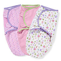 Пеленочка на липучках хлопковая SwaddleMe США размер S для девочки поштучно, Цвет Одноцветная, Цвет Одноцветная