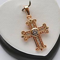 Шикарный крест фирмы Xuping покрытие золотом 18к.