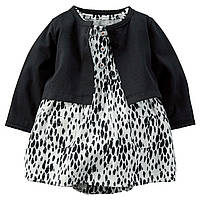Платье бодик с черным болеро Carters, Размер 24м, Размер 24м