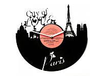 """Виниловые часы """"City of Love"""""""