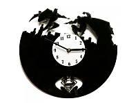 """Виниловые часы """"SupermanVSBatman"""", фото 1"""