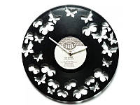 """Виниловые часы """"Бабочки"""""""