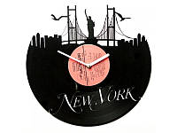 """Виниловые часы """"Романтичный Нью-Йорк"""""""