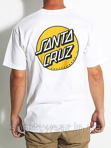 """Футболка  белая  Santa Cruz Logo  мужская """""""" В стиле Santa Cruz """""""""""