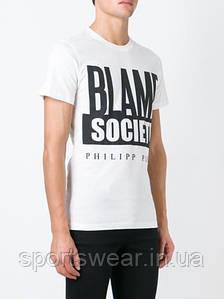 Мужская Футболка PHILIPP PLEIN  Blame Society