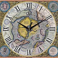 """Часы настенные """"Карта"""""""