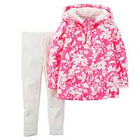 Комплект Carters с флисовой туникой Розовые цветочки, Размер 24м, Размер 24м