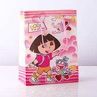 Пакет подарочный детский (пластик) DORA (Дора) 12шт\уп.