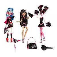 Monster High Ghoul Spirit Fearleading Дракулаура, Клео, Гулия Draculaura, Cleo, Ghoulia