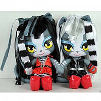 Monster High Exclusive Плюшевые Мурсефона и Мяулодия  Werecat Sisters Purrsephone & Meowlody Plush Dolls