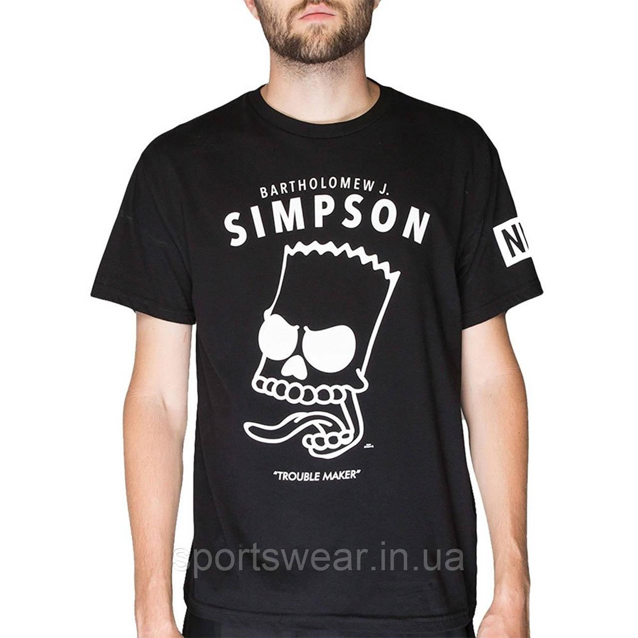 "Футболка  черная   Neff Simpson мужская """" В стиле Neff """""
