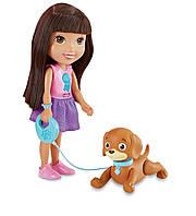 Fisher-Price Интерактивная кукла Даша путешественница и щенок Перрито Nickelodeon Dora and Friends Train and Play Dora and Perrito