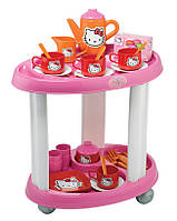 Smoby Игровой набор Сервировочный столик с посудкой Hello Kitty game set serving table with dishes Hello Kitty 001604