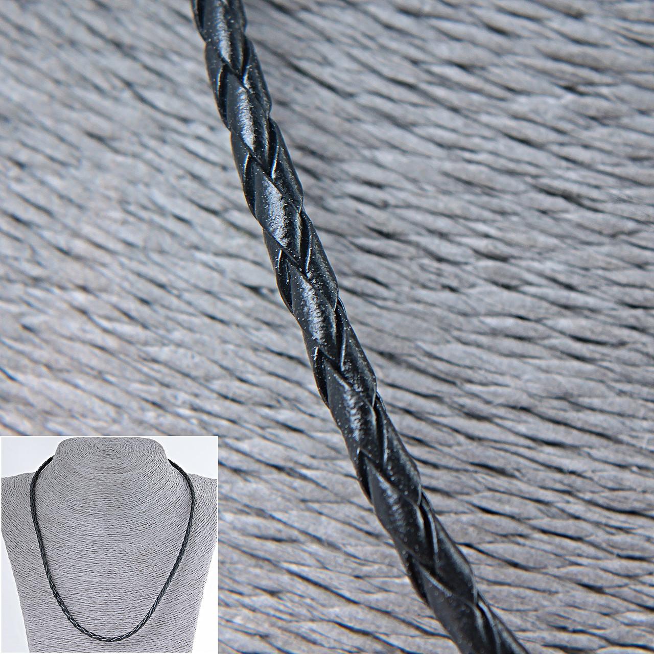 Шнурок плетённая кожа,50см - Интернет-магазин aba-opt в Одессе