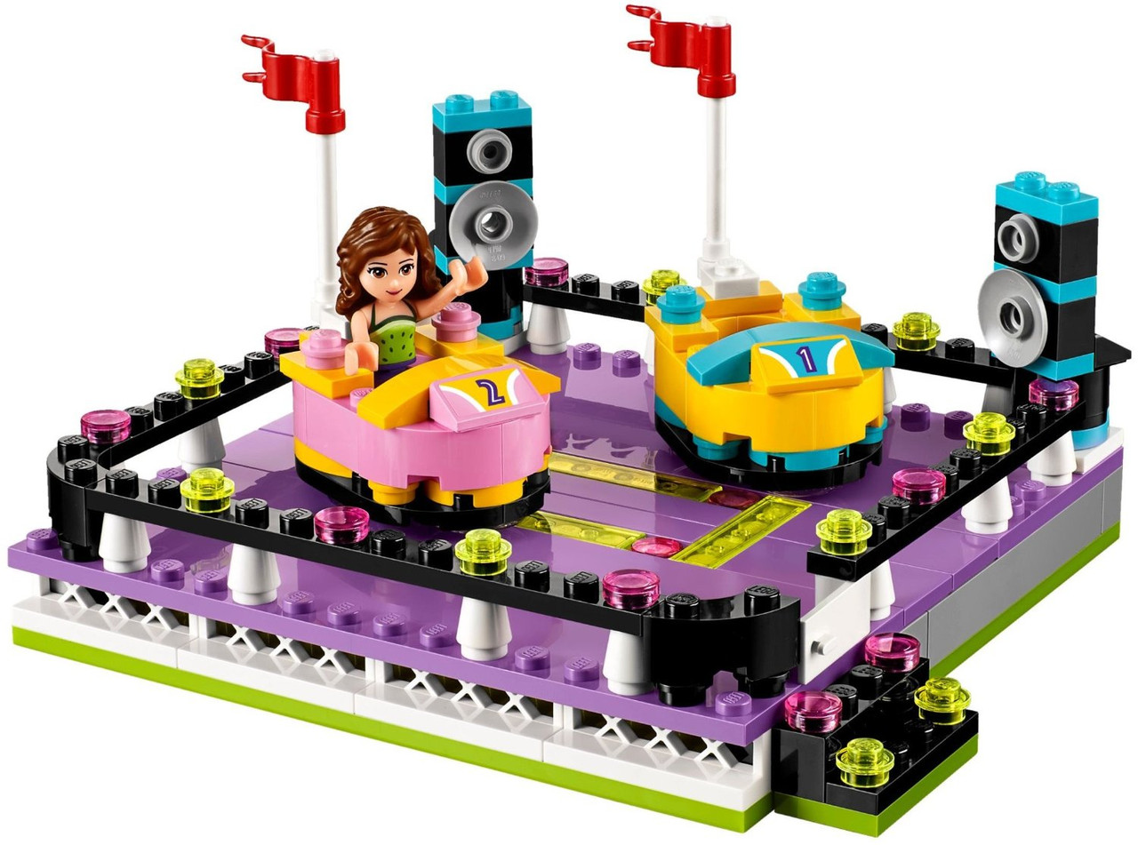Lego парк развлечений автодром Friends Amusement Park Bumper Cars Set 41133