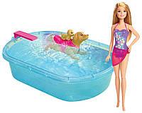 Barbie Игровой набор Бассейн для щенков Pup Pool and Diving Board Set DMC32