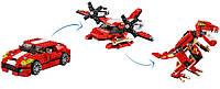 LEGO Мощный красный автомобиль Ревущая мощь 3 в 1 Creator Roaring Power 31024 Building Toy