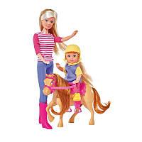 Steffi Love & Evi Штеффи и Ева Обучение верховой езде Horse training 5738051