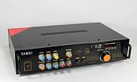 Усилитель звука AMP 102, звуковой усилитель + караоке на 2 микрофона, усилитель мощности звука