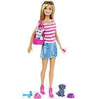 Barbie Игровой набор Барби и домашние животные Doll & Pets Set