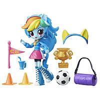 My Little Pony Equestria Girls Девочки Эквестрии Рейнбоу Деш Школьная эстафета Minis Rainbow Dash School Pep Rally Set