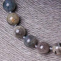Бусы из натуральных камней Лабрадор, шарик 10-12мм