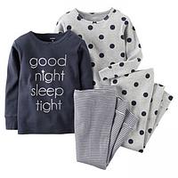 Комплект детских пижам для девочки Carters Сладких снов, Размер 5T, Размер 5T