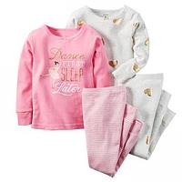 Комплект детских пижам для девочки Carters Балеринки, Размер 4T, Размер 4T