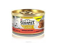 Консервы для кошек Gourmet Gold с говядиной и томатом, 85г