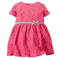 Платье Carters Узор розовый, Размер 9м, Размер 12м