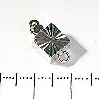 [18 мм] Замок для бус, браслетов с фиксатором квадратный