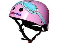 Шлем детский Kiddi Moto очки пилота, розовый, размер S 48-53см