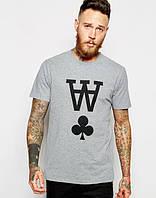 "Футболка мужская с принтом ""Wood Wood T-Shirt With AA Print"" Вуд Вуд"