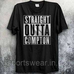 """Мужская    черная  Футболка  STRAIGHT OUTTA COMPTON   """""""" В стиле Little Compton """""""""""