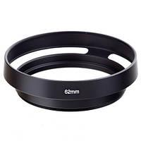 Бленда вентилируемая 62мм, металл, Leica, черная