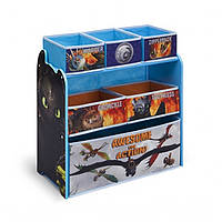 Органайзер для игрушек с ящиками Как приручить дракона 2 Delta Children Multi-Bin Toy Organizer DreamWorks How to Train Your Dragon 2