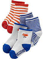 Комплект махровых носочков для мальчика OldNavy Лисенок, Размер 0-3, Размер 0-3
