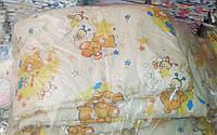 Защита для детской кроватки Персиковые мишки