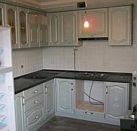 Кухня ясень с серебряной патиной, фото 1