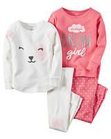 Комплект детских пижам для девочки Carters Мишутка, Размер 4T, Размер 4T