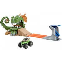 Hot Wheels Трек Атака дракона с машинкой монстр джам 1:64 Monster Jam Dragon Arena Attack Playset
